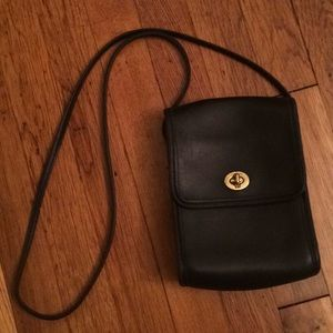 Coach Vintage B1P 9893 purse black leather small